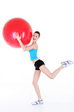 physical exercises with fitball