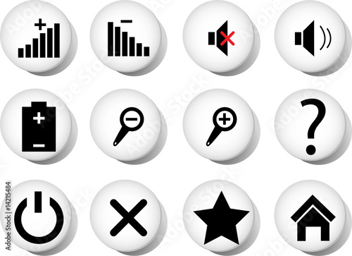 Collection of buttons for mediaplayers. Vector illustration