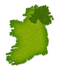 isolated shamrock clover ireland map