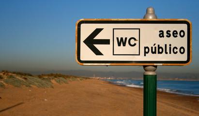 rotulo playa