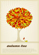 roleta: retro autumn tree