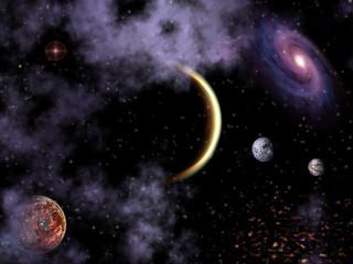 Nébuleuse et planètes