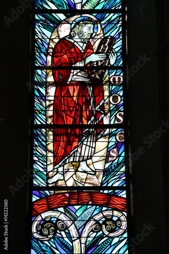 Moses in Christchurch cathedral