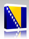 Flag of Bosnia Hertzigovina box package poster