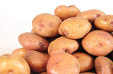 Potatoes. Clipping path.