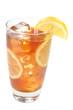 Iced Tea, Lemons, Isolated, Clipping Path