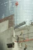 chantier dans le quartier des affaires poster