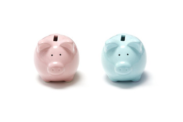 Male and female piggy bank