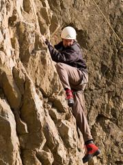 climber swarming up