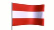 Austria - Austrian flag animation loop