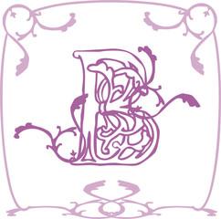 B alphabet enluminure