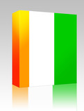 Flag of Ivory Coast box package poster