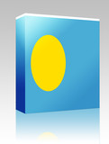 Flag of Palau box package poster