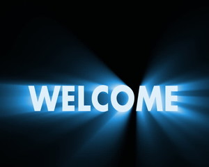 welcome text animation