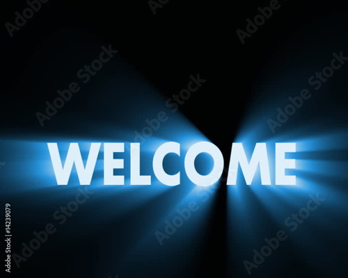 Welcome Text Animation Welcome Text Animation Stock