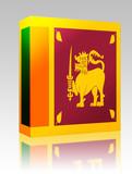 Flag of Sri Lanka box package poster