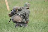 Soldier. WW2 reenacting.Kiev,Ukraine poster