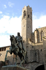 Statue of Count Ramon Berenguer IV in Barcelona, Spain
