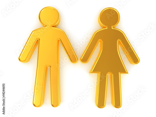 Male and female. Signs