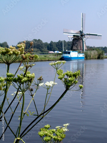 Canal and windmill