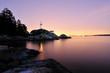 Leinwanddruck Bild - Point Atkinson Lighthouse in West Vancouver, Long Exposure