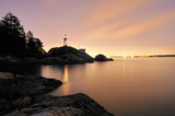 Point Atkinson Lighthouse in West Vancouver, Long Exposure poster