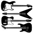 Electric guitars in detailed vector silhouette. - 14249261