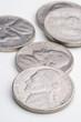 five US nickels