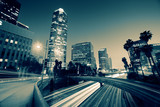 Freeway traffic in downtown Los Angeles - Fine Art prints