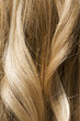 Close up of blonde hair