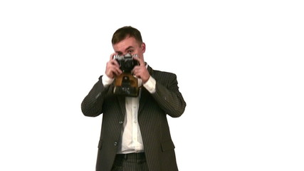 businessman with photo camera