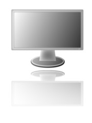 Illustration of widecreen LCD monitor