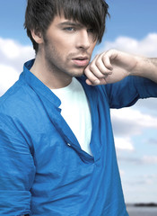 Very handsome man in blue