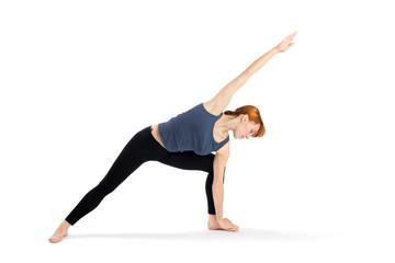 Woman Practising Yoga Exercise