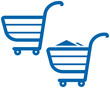 Vector Shopping Carts Illustration