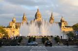 Magic Fountain and Palau Nacional in Barcelona, Spain poster