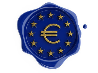 Blue wax gold euro for mail