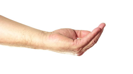 senior hand fistful