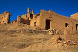 ruins of moroccan kasbah poster