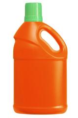 Detergent bottle. Clipping path.