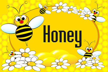 Honey pot label	or brochure