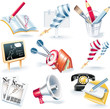 Vector advertising campaign icon set