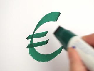 euro zeichen ziffer schreiben neuen hand stift