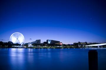 Wheel Across River in Blue