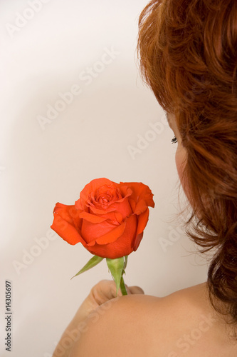 The girl and a rose