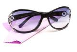 Sunglasses with fiber rag poster
