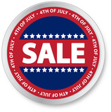 4th of July Sale Button poster