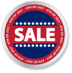 4th of July Sale Button