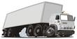 Vector cartoon cargo semi truck