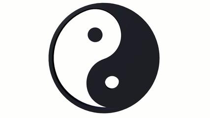 Yin und Yang -  Green Screen - freigestellt